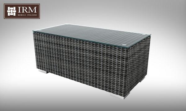Konferenční stolek z umělého ratanu Aperto 100x50 šedý