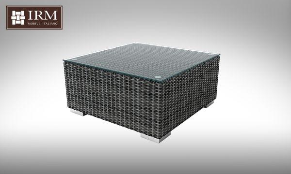 Konferenční stolek z umělého ratanu Aperto 72x72 šedý