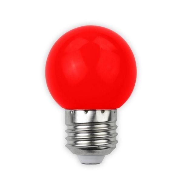 Barevná LED žárovka E27 1W 30lm červená