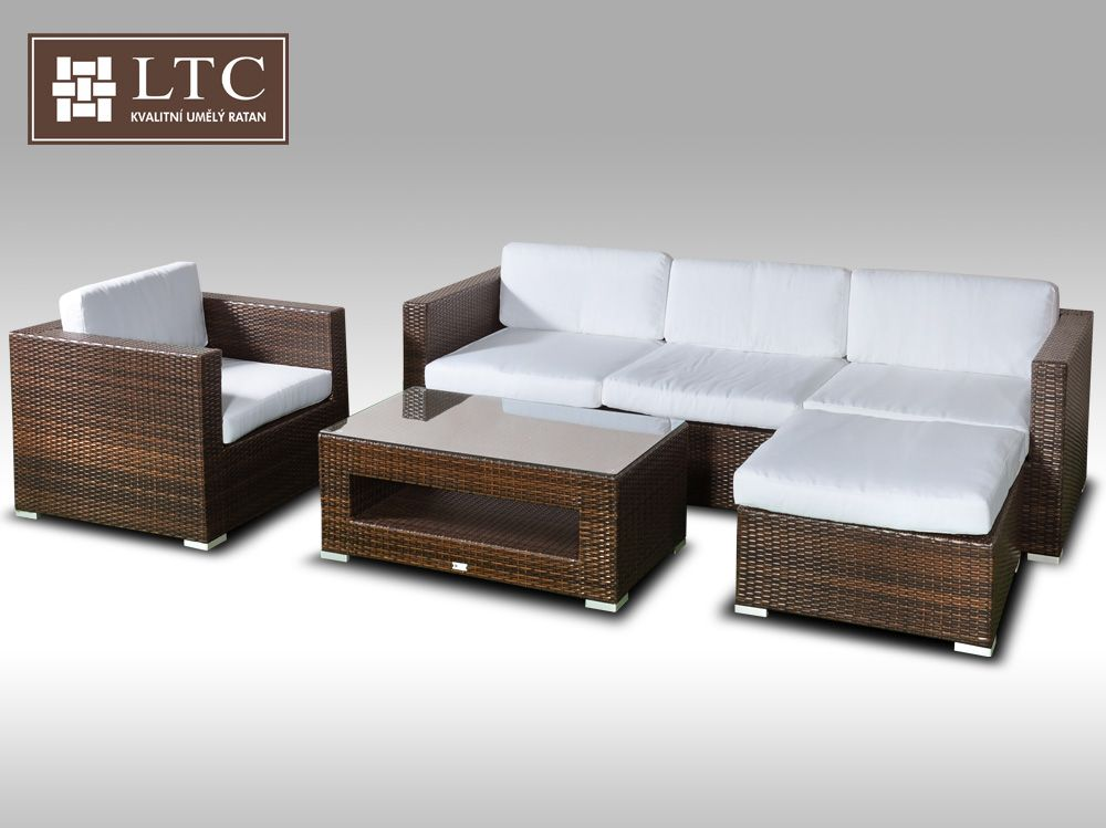 Luxusní rohová sedací souprava ALLEGRA VIII hnědá 4-5 osob