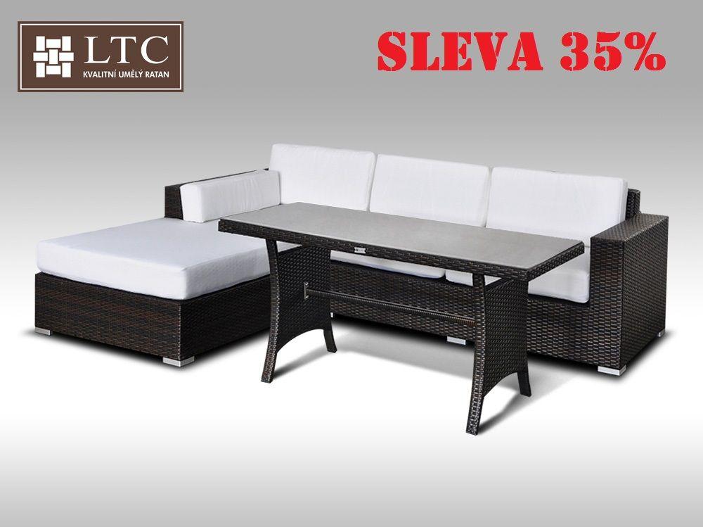 Luxusní sedací souprava z umělého ratanu Conchetta VII 2v1 2,48x1,9m