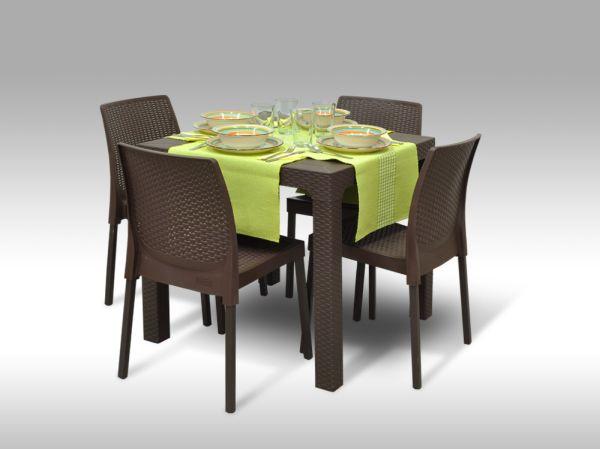Jídelní sestava Granada + 4 židle Malaga