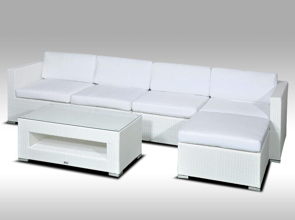Luxusní rohová sedací souprava ALLEGRA 9 bílá 4-5 osob + DÁREK