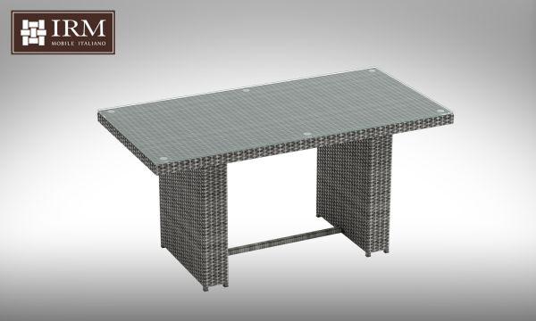 Jídelní stůl z umělého ratanu Brillante šedý