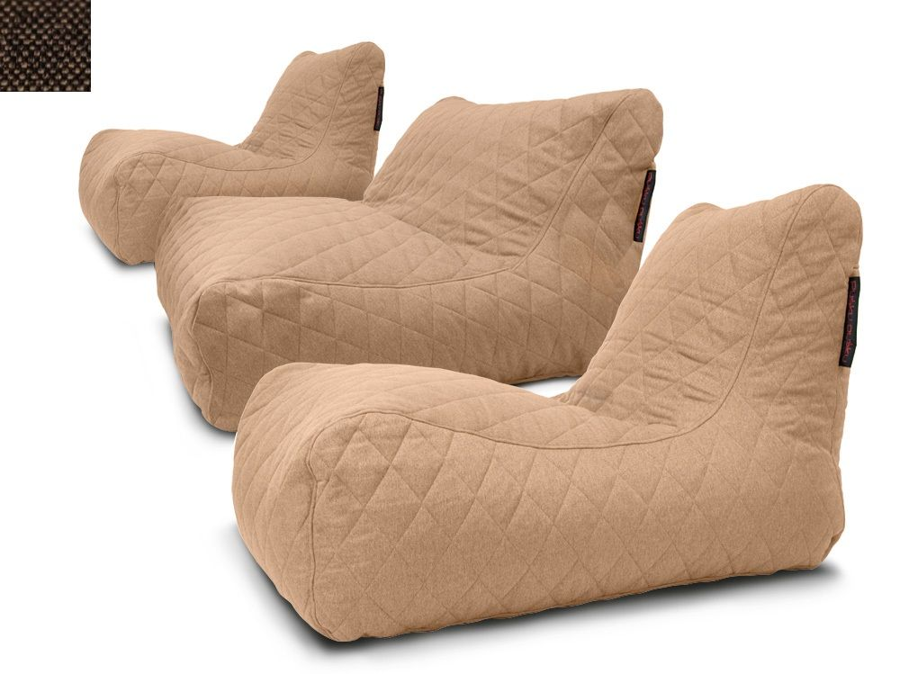 Sedací souprava Lounge Quilted Nordic Chocolate