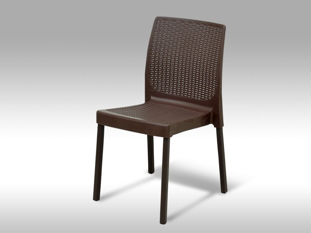 Zahradní plastová židle Malaga hnědá - VZHLEDOVÉ VADY