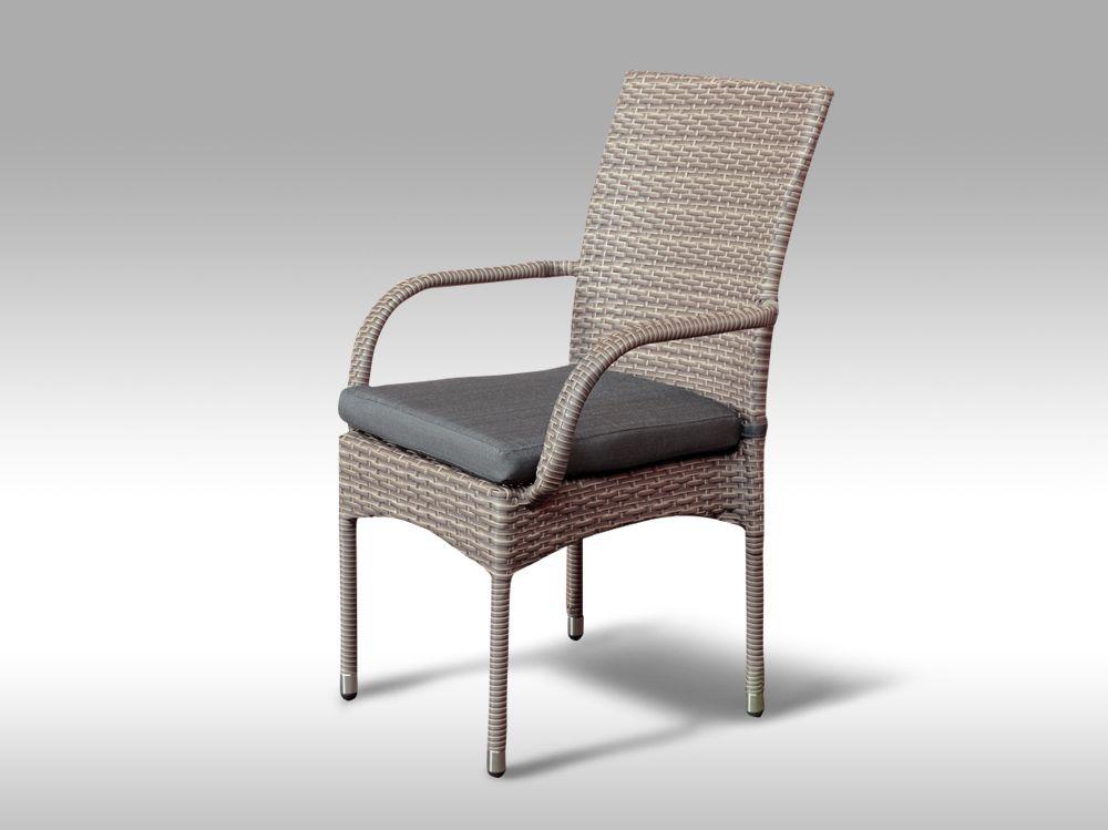 Židle z umělého ratanu Pietro šedobéžová POSLEDNÍ 1KS