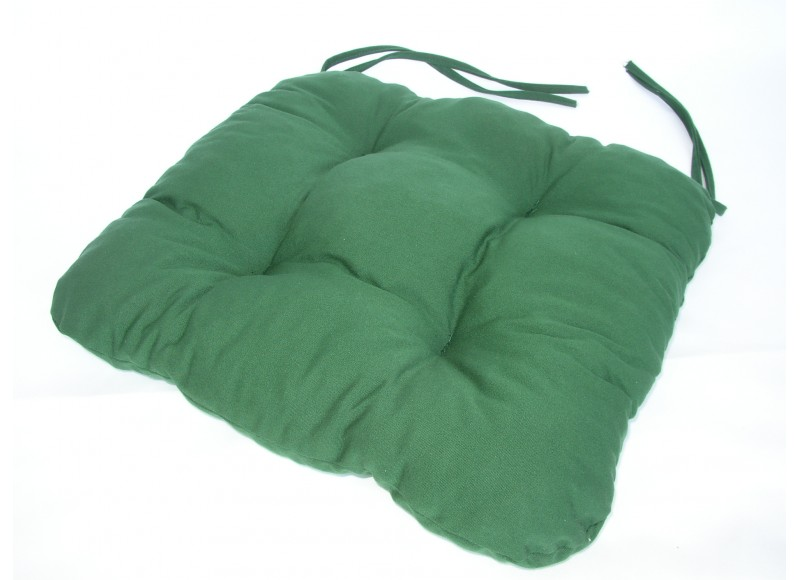 Podsedák na židli 40x40cm, barva tmavě zelená