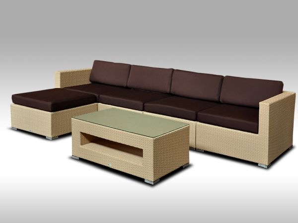 Luxusní rohová sedací souprava ALLEGRA 9 písková 4-5 osob + DÁREK
