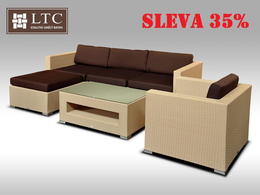 Luxusní rohová sedací souprava ALLEGRA VIII písková 4-5 osob