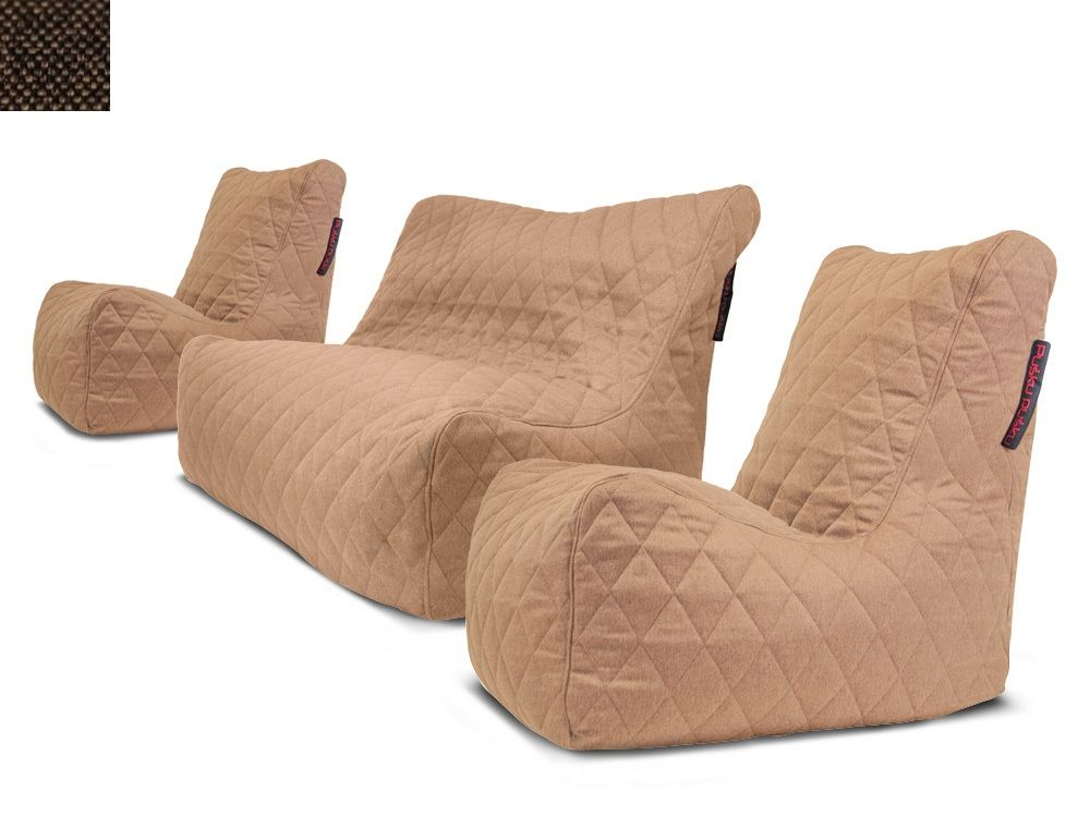 Sedací souprava Seat Quilted Nordic Chocolate