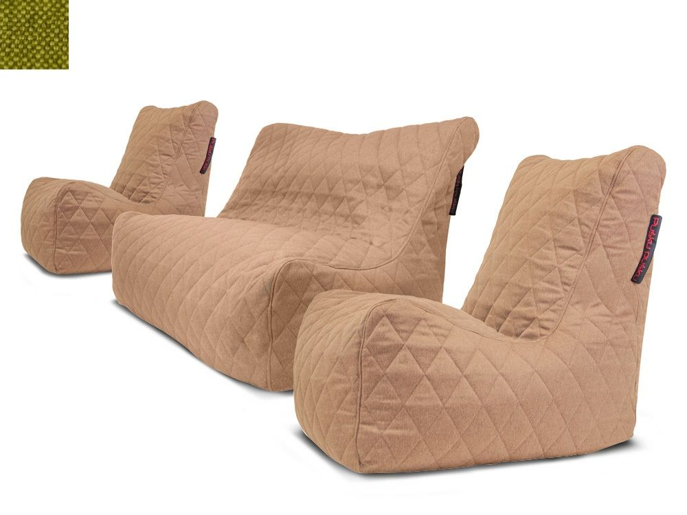 Sedací souprava Seat Quilted Nordic Lime