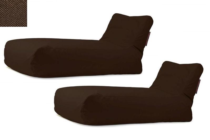 Akční set: 2x lehátko Sunbed Chocolate