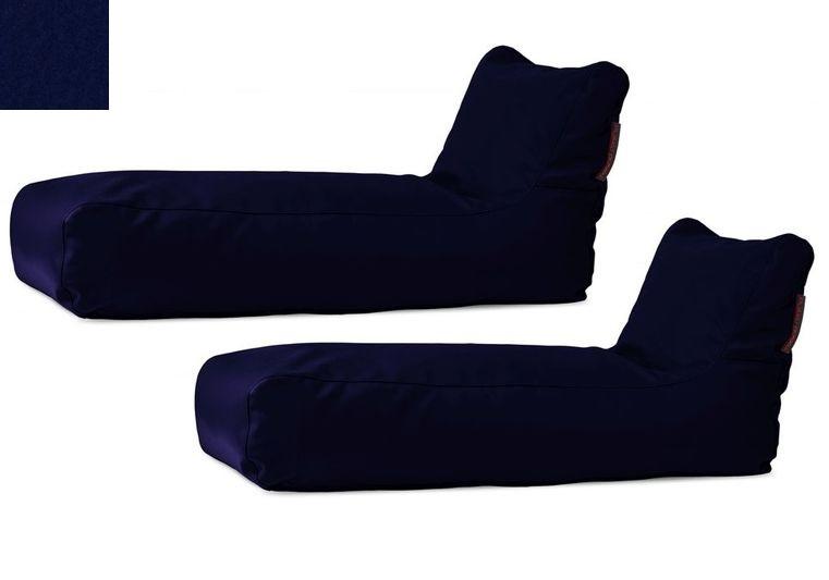 Akční set: 2x venkovní lehátko Sunbed Dark blue