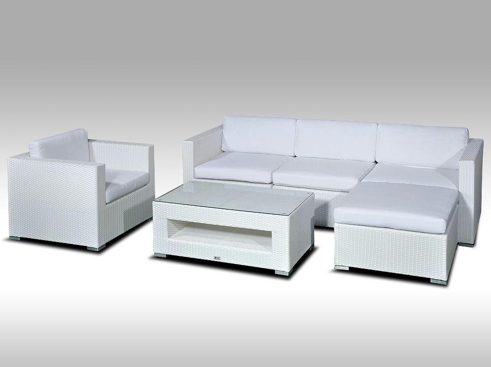 Rohová sedací souprava ALLEGRA VIII bílá 4-5 osob