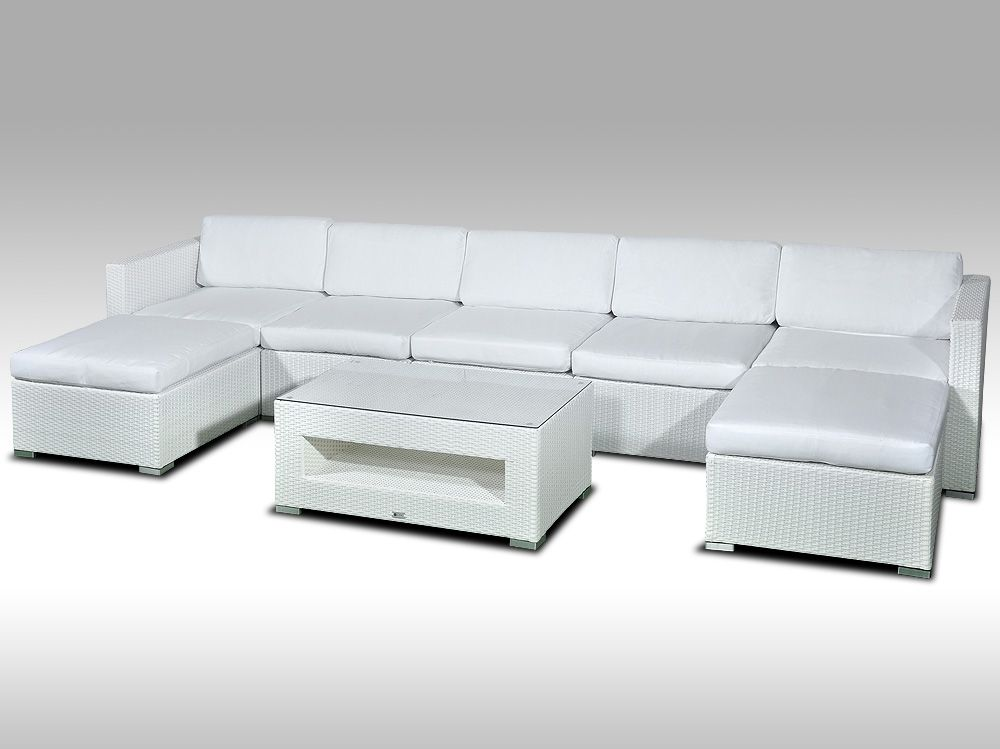 Luxusní rohová sedací souprava ALLEGRA XI bílá 5-7 osob