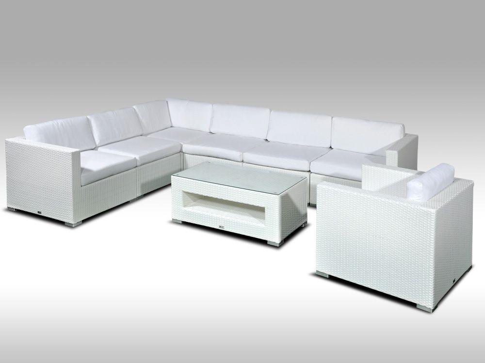 Luxusní rohová sedací souprava ALLEGRA 15 bílá 6 osob + DÁREK
