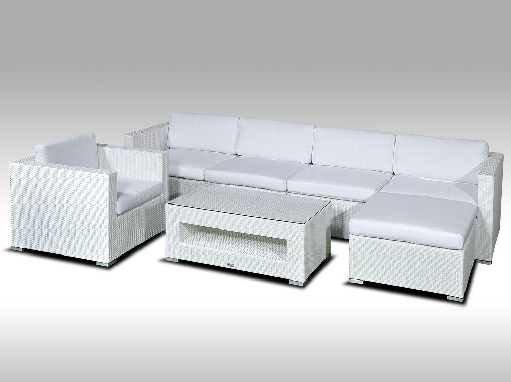 Luxusní rohová sedací souprava ALLEGRA X bílá 5-6 osob