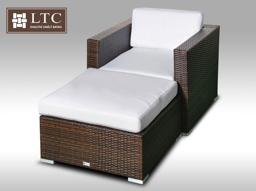 Umělý ratan - luxusní sedací souprava ALLEGRA 1 hnědá 1-2 osoby