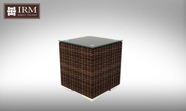 Kávový stolek z umělého ratanu Aperto