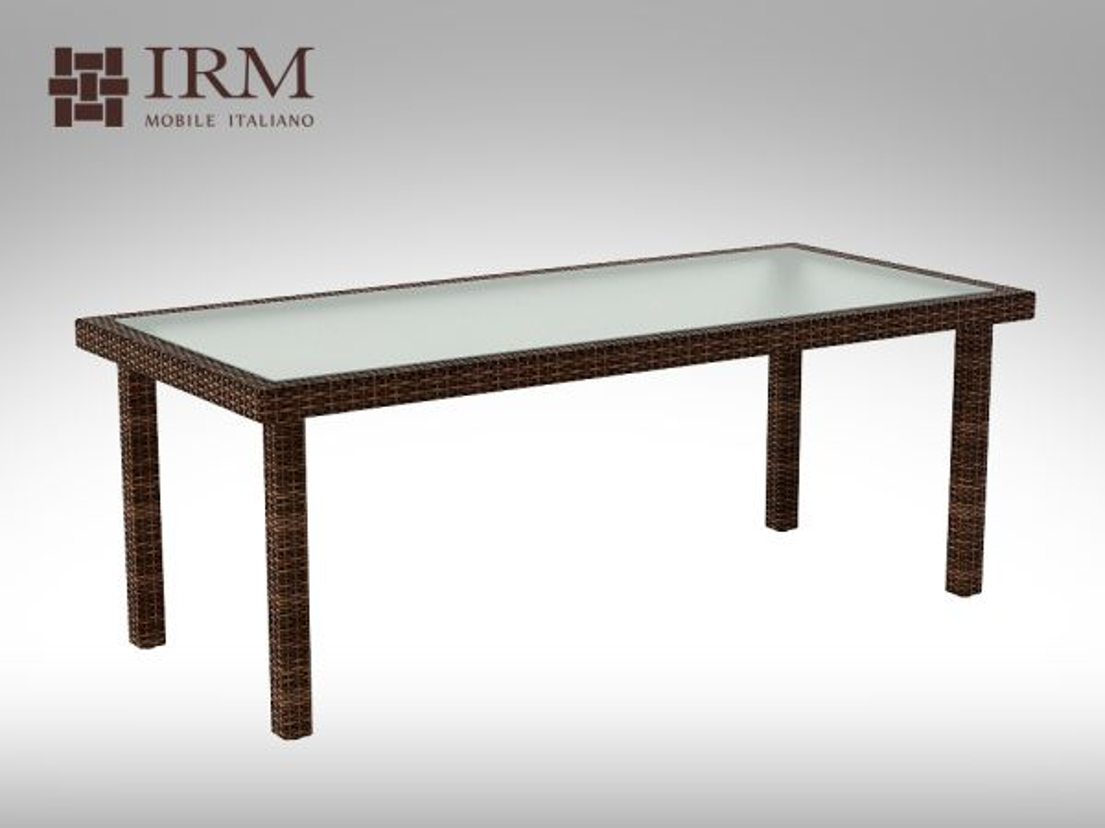 Umělý ratan - stůl Capra 200x90