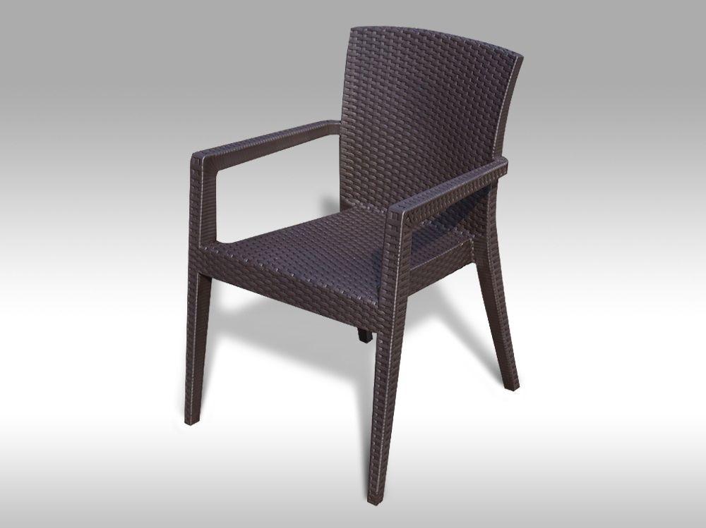 Kvalitní plastová židle Montana hnědá
