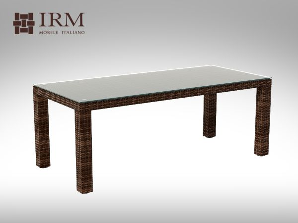 Umělý ratan - stůl Orso XL 200x90