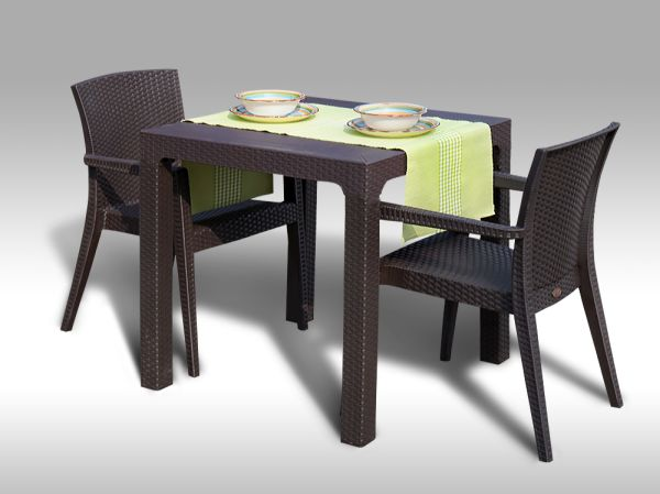 Zahradní sestava Barcelona + 2 židle Montana POSLEDNÍ 1 SESTAVA