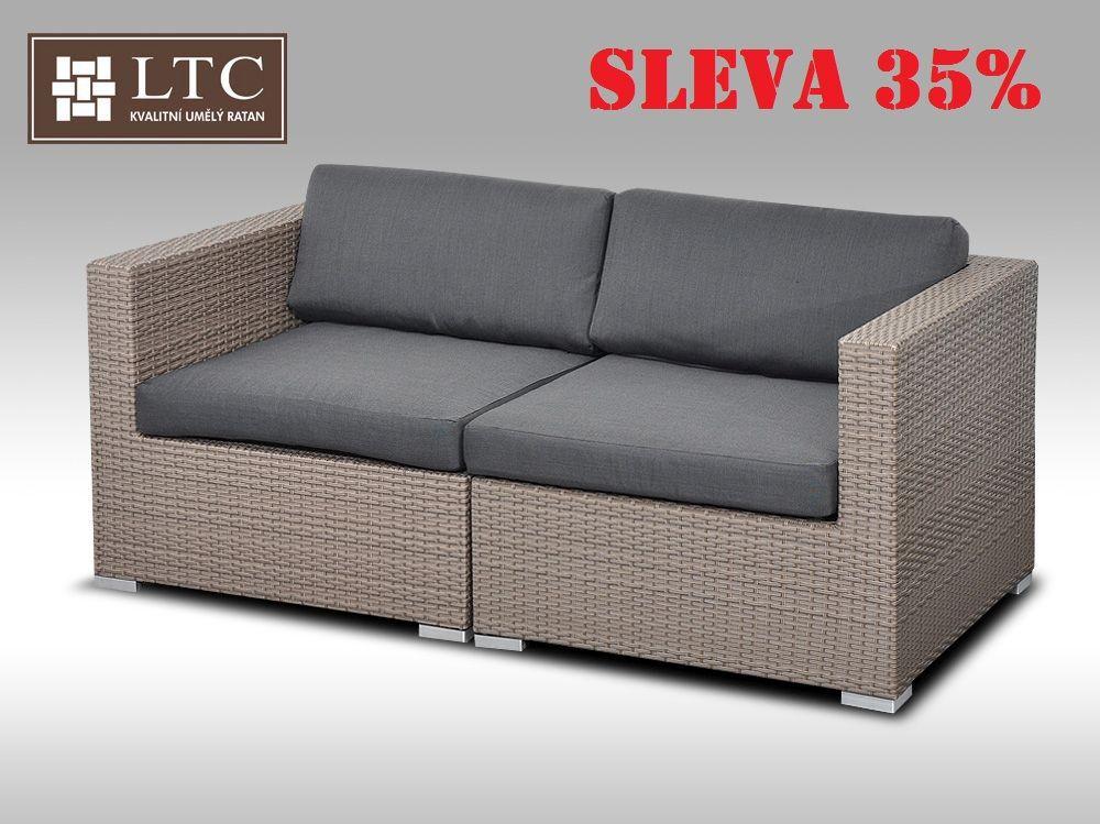 Sofa ALLEGRA šedobéžová 2 osoby