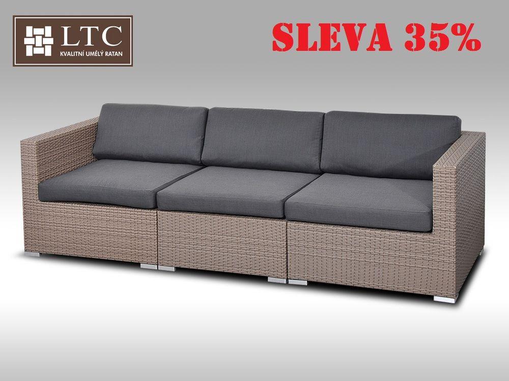 Sofa ALLEGRA šedobéžová 3 osoby