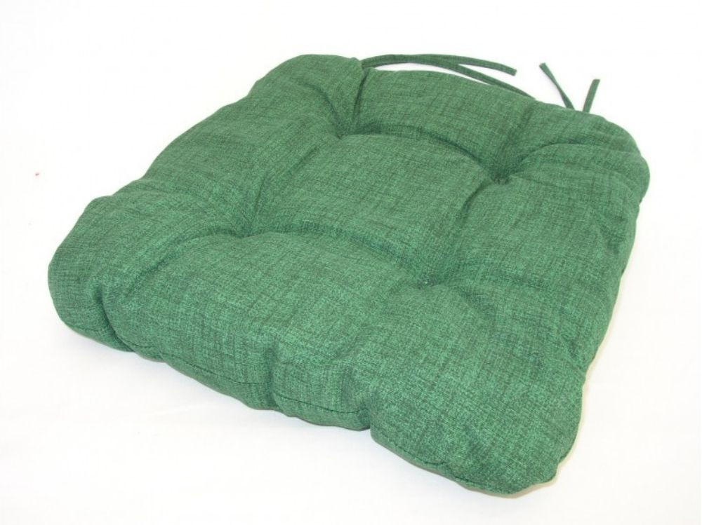 Podsedák na židli 40x40cm, barva tmavě zelený melír