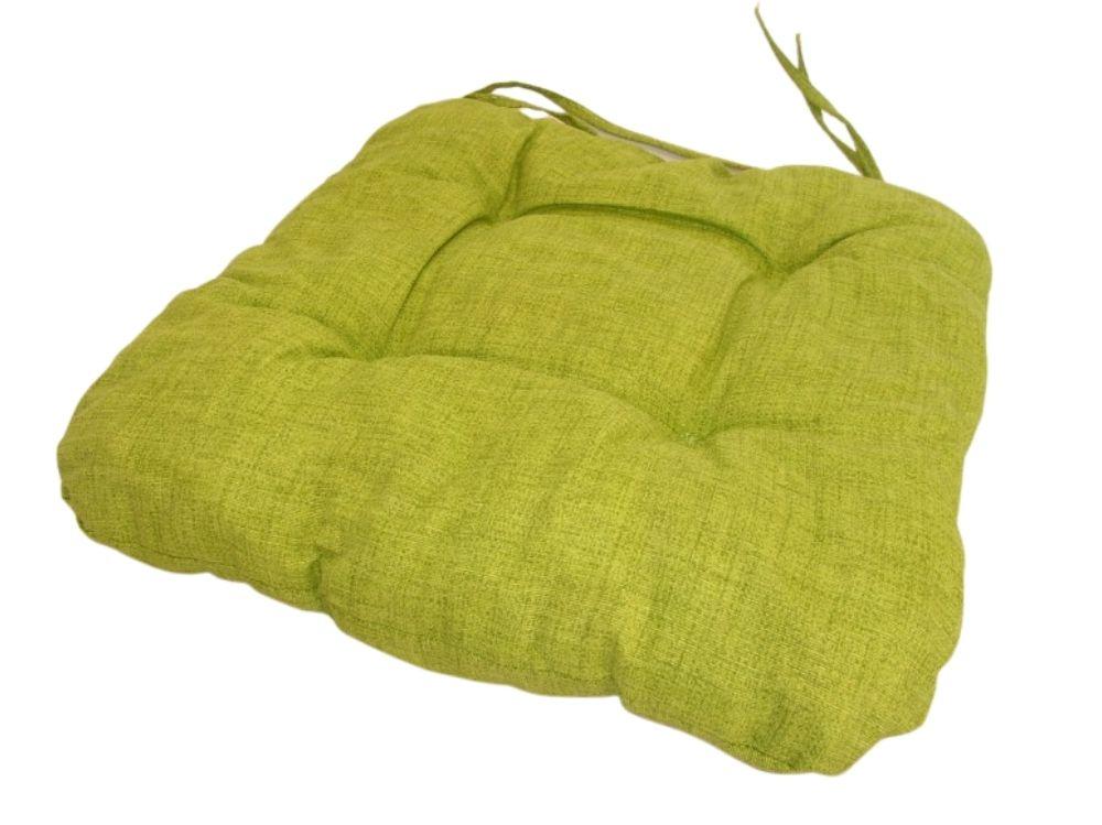 Podsedák na židli 40x40cm, barva světle zelený melír